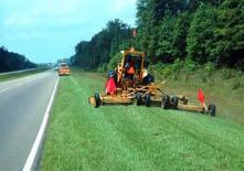 Mowing roadside right-of-way